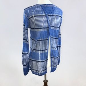 [Say What?] Open Back Perforated Thin Knit Sweater